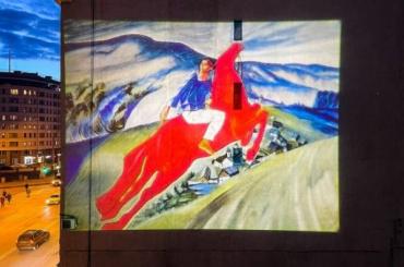 Световая проекция картины Петрова-Водкина украсит дом наВасильевском острове