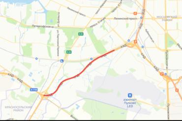НаКАД перекроют полосу между развязками сЗСД иТаллинским шоссе