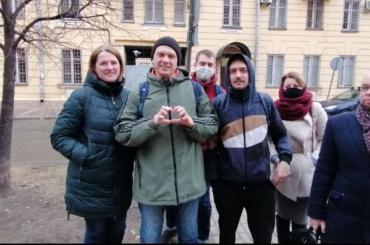 Представитель белорусского землячества Владимир Драгун вышел изспецприемника
