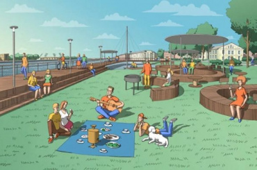 Тропа под водой, огород, пляж: урбанисты представили план парка «Заросли»