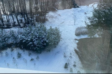 ВПетербурге выпало больше 4см апрельского снега