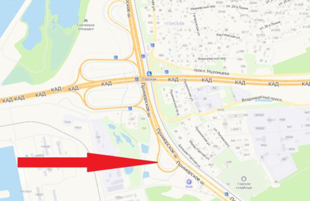 Съезд наразвязке КАД сПриморским шоссе полностью перекроют