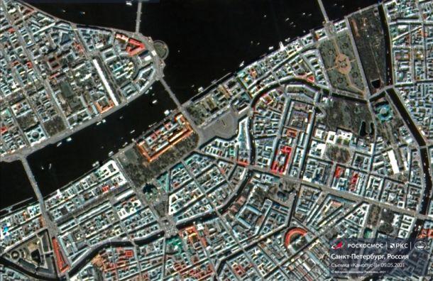 Роскосмос выложил фото Петербурга, сделанное 9мая спутниками из космоса