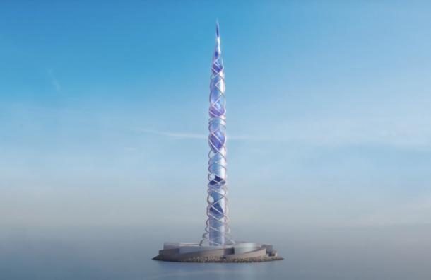 Новый петербургский небоскреб «Лахта центр-2» представили навидео
