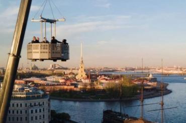 Впарке 300-летия появился 60-метровый подъемник сосмотровой площадкой