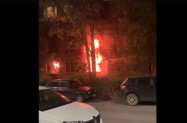 При пожаре наТоварищеском проспекте пострадали четверо мужчин