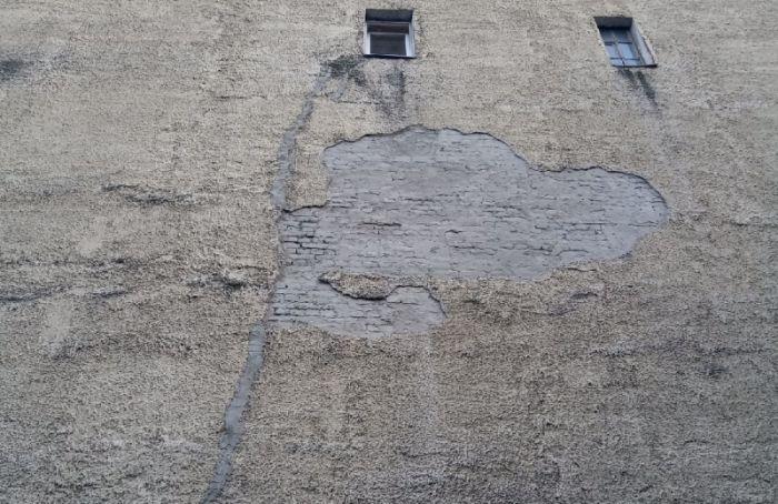 Исторический дом наЧерняховского дал новую трещину