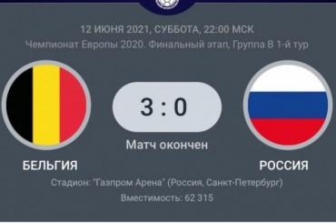 Сборная России проиграла Бельгии сосчетом 0:3