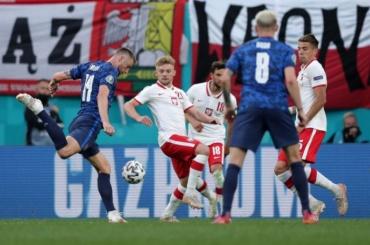 Матч Польша-Словакия завершился сосчётом 1:2