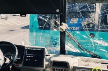 Маршрутка врезалась вавтобус наЛенинском проспекте