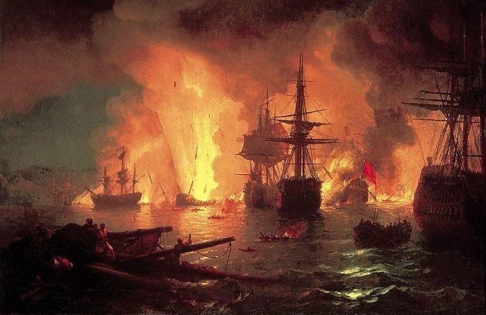ВАдмиралтействе открыли барельеф вчесть победы русского флота вЧесменском сражении
