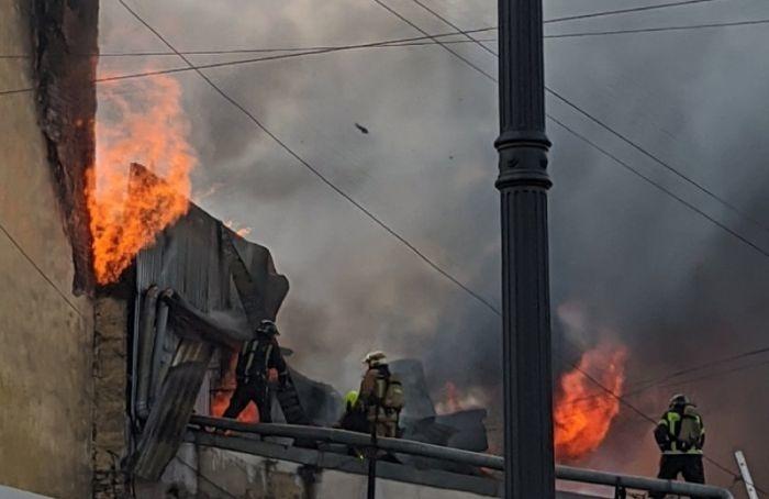 Пожар вдоме наЛиговском проспекте локализовали