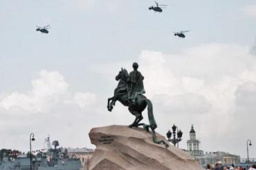 ВПетербурге прошла первая авиационная репетиция кпараду ВМФ