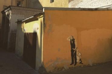 Достоевский стопором— вПетербурге новое граффити
