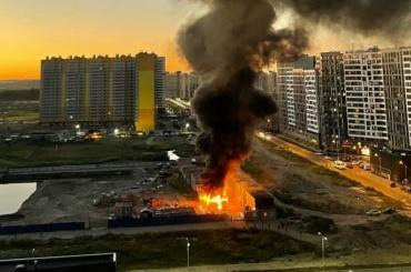 Вблизи метро «Девяткино» снова случился пожар