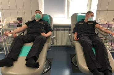 Моряки Северного флота вПетербурге стали донорами крови