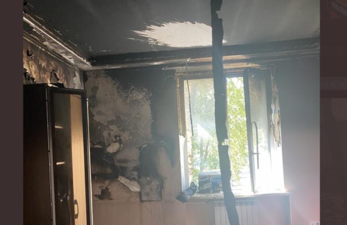 Урэпера Славы КПСС сгорела квартира