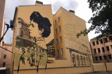 Портрет Матильды Кшесинской украсил брандмауэр наЛиговском проспекте