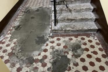 НаБольшой Пушкарской демонтируют историческую плитку