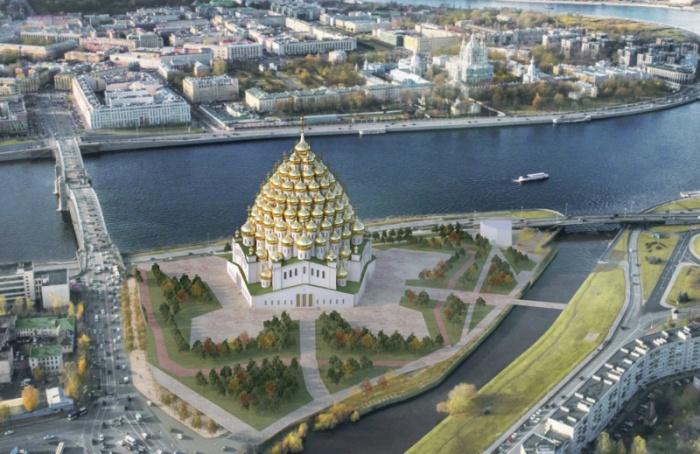 ВПетербурге предлагают построить 320-купольный храм (насамом деле нет)