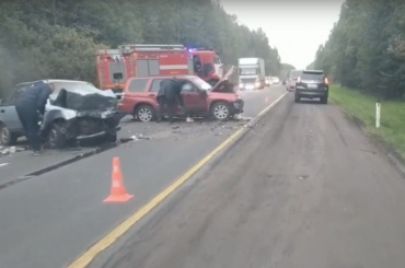 Два человека погибли ваварии под Лугой