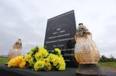 Наместе памятника животным блокадного Ленинграда заложили камень