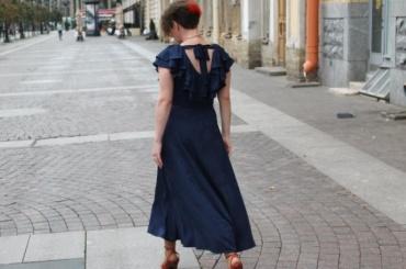 Платье изСтогкольма приехало вПетербург для участия ввыставке