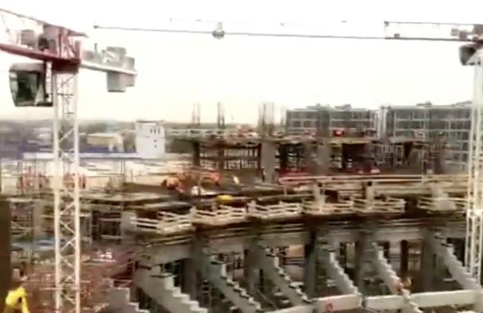 «СКА Арена» уже достигла 25-метровой высоты