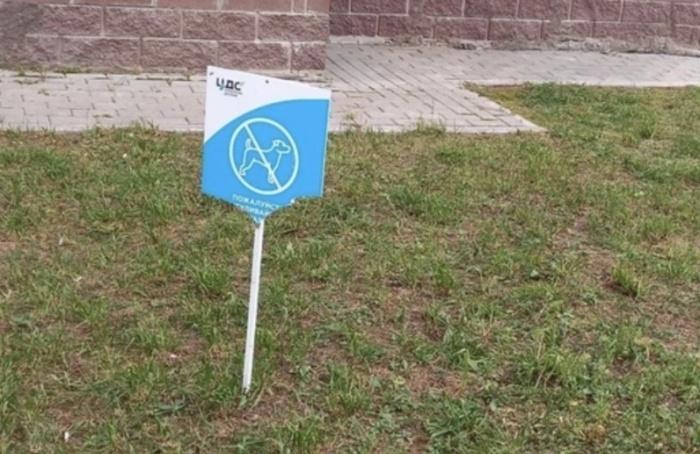 ВМурино повpeдили таблички, запрещающие выгул собак