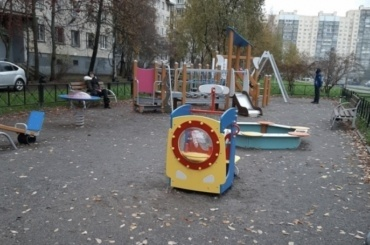 ВКрасногвардейском районе— новая детская площадка