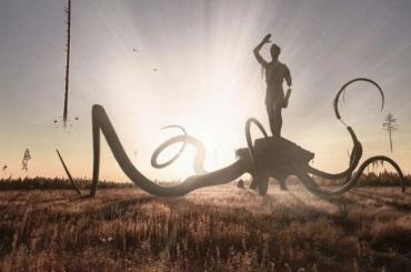 Пионер иосьминог: художник запечатлел таинственную скульптуру вЛенобласти